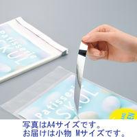 アルミ蒸着テープ付OPP袋 小物用 M 幅70×高さ100+フタ40mm PPA-M 1セット(500枚:100枚入×5袋) カクケイ