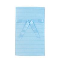 カクケイ 不織布巾着袋<リボン付き>ボーダー M ブルー FHRB-03 1セット(10枚) (取寄品)