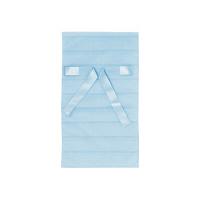カクケイ 不織布巾着袋<リボン付き>ボーダー S ブルー FHRB-04 1セット(10枚) (取寄品)