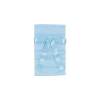 カクケイ 不織布巾着袋<リボン付き>ボーダー SS ブルー FHRB-05 1セット(10枚) (取寄品)