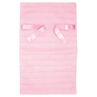 カクケイ 不織布巾着袋<リボン付き>ボーダー L ピンク FHRP-02 1セット(10枚) (取寄品)