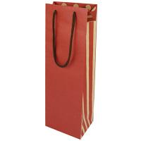 カクケイ ワイン用 紙手提げ袋 ボルドー FK2331 1セット(10枚) (取寄品)