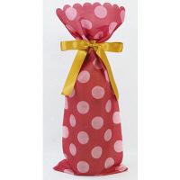 カクケイ ワイン用 不織布巾着袋 ボルドー FK3061 1セット(10枚) (取寄品)