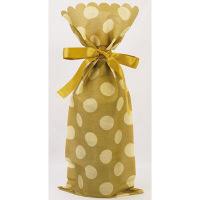 カクケイ ワイン用 不織布巾着袋 ゴールドベージュ FK3062 1セット(10枚) (取寄品)