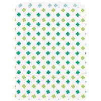 カクケイ 紙袋 平袋クローバー柄 2号 フ-904 1セット(100枚) (取寄品)