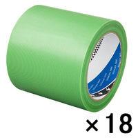 寺岡製作所 養生テープ P-カットテープ No.4140 塗装養生用 若葉色 幅100mm×長さ25m巻 1箱(18巻入)