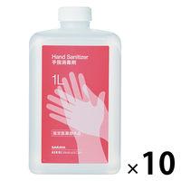 サラヤ 手指消毒剤 付替用 1L 1箱(10本入)