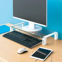キングジム デスクボード (USBハブ付) ホワイト THDBU-20W