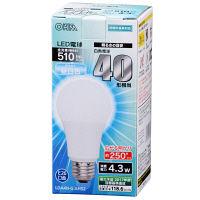 オーム電機 LED電球 A型 E26 昼白色 LDA4N-G AH52