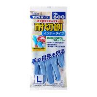 ツヌーガ(R) モデルローブNo.800 耐切創手袋 L ブルー :1双入×5 エステー