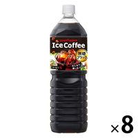 ポッカ アイスコーヒー BLACK 無糖 ペット 1500mlx8本