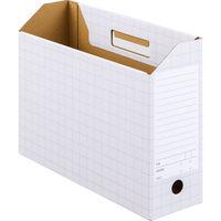 ボックスファイル A4ヨコ 50冊 ダンボール製 グレー アスクル