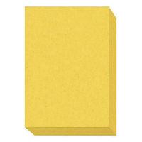 アスクル カラーペーパー 厚口 イエロー A4 1セット(500枚×4冊)