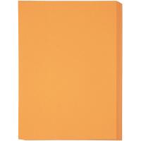アスクル カラーペーパー 厚口 オレンジ A4 1セット(500枚×4冊)