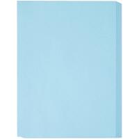 アスクル カラーペーパー 厚口 ブルー A4 1冊(500枚入)