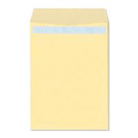ハート 透けない封筒 カラー テープ付 角2(A4) クリーム XEP473 100枚