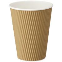 リップルカップ 未晒し 12オンス 1袋(40個入)ファーストレイト 紙コップ