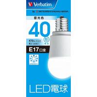 三菱化学メディア ミニクリプトンLED電球 昼光色 40W 広配光 LDA4D-E17-G/V4