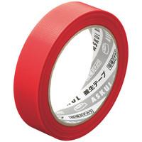 「現場のチカラ」 【養生テープ】 赤 幅25mm×25m アスクル 1セット(5巻:1巻×5)