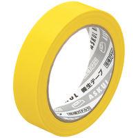 アスクル「現場のチカラ」 養生テープ 黄色 幅25mm×長さ25m巻 1セット(5巻:1巻×5)