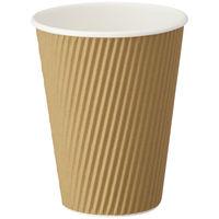 リップルカップ 未晒し 12オンス 1箱(1200個:40個入×30袋)ファーストレイト 紙コップ