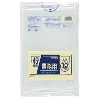 ジャパックス 業務用ポリ袋45L 透明10枚 0.08重量物対応 PL48 1パック(10枚入)