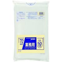 ジャパックス 業務用ポリ袋70L 透明10枚 0.08重量物対応 PL78 1パック(10枚入)