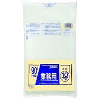 ジャパックス 業務用ポリ袋90L 透明10枚 0.08重量物対応 PL98 1パック(10枚入)