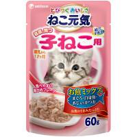 ねこ元気子猫パウチお魚ミックス鰹×4