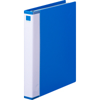 クリヤーブック 差し替え式 30穴 A4タテ 25ポケット 背幅3.5cm 3冊 ブルー アスクル