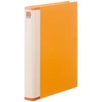 クリヤーブック 差し替え式 30穴 A4タテ 25ポケット 背幅3.5cm 12冊 オレンジ アスクル