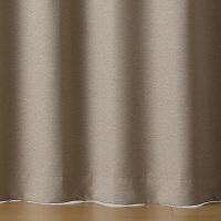 無印良品 二重織プリーツカーテン/杢ライトブラウン 幅100×丈105cm 良品計画
