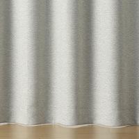 無印良品 ポリエステル二重織プリーツカーテン(防炎・遮光性)/杢ライトグレー 幅100×丈200cm 38396482 良品計画