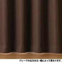 カーテン/杢ブラウン100×105cm