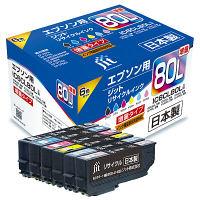 ジット リサイクルインク JIT-AE80L6P 6色パック(大容量) 1パック(6色入) (IC6CL80L互換) IC80シリーズ