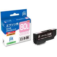 エプソン用 ジット リサイクルインク JIT-AE80LML ライトマゼンタ(大容量) (ICLM80L互換) IC80シリーズ