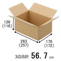 【60サイズ】 ワンタッチ式 宅配ダンボール No.12 幅263×奥行178×高さ126mm 1梱包(60枚入)