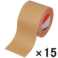 オリーブテープ No.141 0.37mm厚 100mm×25m巻 茶 1セット(15巻:1巻×15) 寺岡製作所