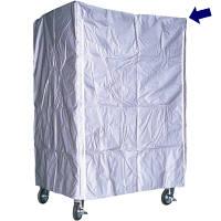 ナンシン ラスティーパレット用雨防塵カバー1型用(グレー) 幅800×奥行600×高さ1700mm用サイズ (直送品)