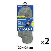 クランク ソックス 22-24 グレー