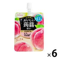たらみ おいしい蒟蒻ゼリーピーチ味 150g 1セット(6個入)