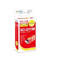 【アウトレット】G&G 互換インク HBC-321Y イエロー(キヤノン BCI-321Y互換) 1個