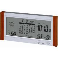 アデッソ(ADESSO) カレンダー電波時計(天気予報機能付) [電波 カレンダー 掛け 時計] TSB-376 1個 (直送品)