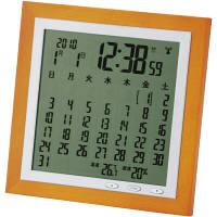 アデッソ(ADESSO) カレンダー電波時計 [電波 カレンダー 掛け 時計] TSB-363 1個 (直送品)