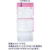 ケルン チャートブック用ペアポケット(A3) KD-730対応 KD-221 1パック(10枚入) (直送品)