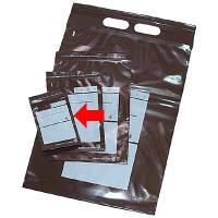 茶遮光ユニパック 0.05mm厚 C 70mm×100mm 書き込み可 1箱(1000枚:100枚入×10袋) 金鵄製作所 (直送品)