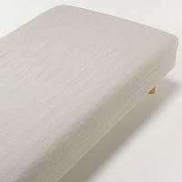 オーガニックコットン洗いざらしボックスシーツ・S/ベージュ 37112117 無印良品