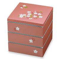 【在庫整理品】切立三段重 宇野千代 あけぼの桜 ピンク 19.5cm 正和