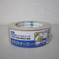 オカモト クラフトテープ 38ミリ シュリンク包装 38ミリ×50m 204 1巻