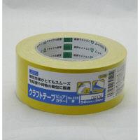 オカモト クラフトテープピュアカラー黄 シュリンク包装 50ミリ×50m 228 1巻